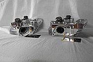 Motorcycle Aluminum Cylinder Heads AFTER Chrome-Like Metal Polishing and Buffing Services / Restoration Services