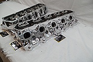 Dodge Viper Aluminum Cylinder Heads AFTER Chrome-Like Metal Polishing and Buffing Services / Restoration Services