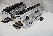 Aluminum V8 Cylinder Heads AFTER Chrome-Like Metal Polishing and Buffing Services / Restoration Services