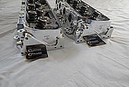 Brodix Aluminum V8 Racing Cylinder Heads AFTER Chrome-Like Metal Polishing and Buffing Services / Restoration Services