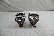 Dart Aluminum Cylinder Heads AFTER Chrome-Like Metal Polishing and Buffing Services / Restoration Services
