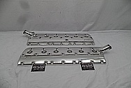 1941 Lincoln Zephyr Aluminum Cylinder Heads Flat-Head AFTER Chrome-Like Metal Polishing and Buffing Services / Restoration Services - Aluminum Polishing Services