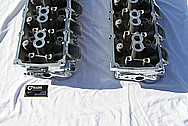Dodge Hemi 6.1L V8 Aluminum Cylinder Heads AFTER Chrome-Like Metal Polishing and Buffing Services