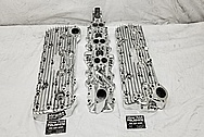Edelbrock Flat Head V8 Cylinder Heads AFTER Chrome-Like Metal Polishing - Aluminum Polishing