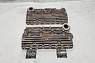 Edelbrock Aluminum Flathead Cylinder Heads AFTER Chrome-Like Metal Polishing - Aluminum Polishing