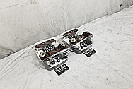 Harley Davidson Aluminum Cylinder Heads AFTER Chrome-Like Metal Polishing - Aluminum Polishing