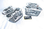 Harley Davidson Evolution Aluminum Motorcycle Engine Cylinder Heads AFTER Chrome-Like Metal Polishing and Buffing Services