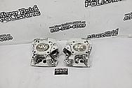 Harley Davidson Motorcycle Aluminum Cylinder Heads AFTER Chrome-Like Polishing and Buffing - Aluminum Polishing - Cylinder Head Polishing
