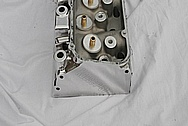 V8 Aluminum Cylinder Head AFTER Chrome-Like Metal Polishing and Buffing Services