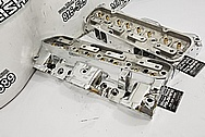 Edelbrock Aluminum Cylinder Heads AFTER Chrome-Like Metal Polishing - Aluminum Polishing - Cylinder Head Polishing