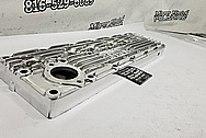 Edgy Straight 6 Plymouth Rough Cast Finned Aluminum Cylinder Head AFTER Chrome-Like Metal Polishing - Aluminum Polishing - Cylinder Head Polishing
