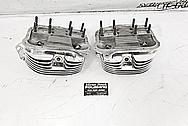 Harley Davidson Aluminum Cylinder Heads AFTER Chrome-Like Metal Polishing - Aluminum Polishing - Cylinder Head Polishing