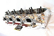 Late Model 502 Chevy V8 Big Block Edelbrock Aluminum Cylinder Head AFTER Chrome-Like Metal Polishing and Buffing Services