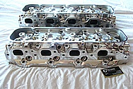 Chevy V8 Big Block Aluminum Cylinder Head AFTER Chrome-Like Metal Polishing and Buffing Services