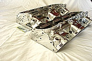 KRE Aluminum Cylinder Heads AFTER Chrome-Like Metal Polishing and Buffing Services