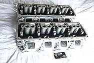 Dodge Hemi 6.lL Engine Aluminum Engine Cylinder Heads AFTER Chrome-Like Metal Polishing and Buffing Services