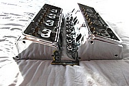 Aluminum V8 Cylinder Heads AFTER Chrome-Like Metal Polishing and Buffing Services