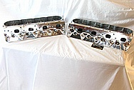 Aluminum V8 Cylinder Heads AFTER Chrome-Like Metal Polishing and Buffing Services / Resoration Services