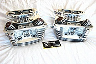 2002 Halrey Davidson Sportster Motorcycle / Bike Aluminum Cylinder Heads AFTER Chrome-Like Metal Polishing and Buffing Services / Resoration Services