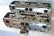 Dart Aluminum Cylinder Head AFTER Chrome-Like Metal Polishing and Buffing Services / Resoration Services