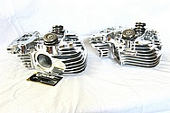 Harley Davidson Motorcycle S&S Engine Cylinder Heads AFTER Chrome-Like Metal Polishing and Buffing Services / Resoration Services