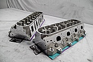 GM Aluminum LSX Race Cylinder Heads BEFORE Chrome-Like Metal Polishing and Buffing Services / Restoration Services