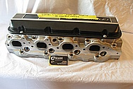 Late Model 502 Chevy V8 Big Block Edelbrock Aluminum Cylinder Head BEFORE Chrome-Like Metal Polishing and Buffing Services