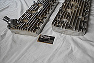 Edelbrock Ford Aluminum Flathead Cylinder Heads BEFORE Chrome-Like Metal Polishing - Aluminum Polishing