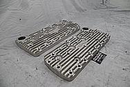 Edelbrock Flat Head V8 Cylinder Heads BEFORE Chrome-Like Metal Polishing - Aluminum Polishing