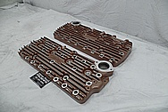 Edelbrock Aluminum Flathead Cylinder Heads BEFORE Chrome-Like Metal Polishing - Aluminum Polishing