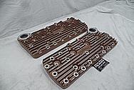 Edelbrock Aluminum Flathead Cylinder Heads BEFORE Chrome-Like Metal Polishing - Aluminum Polishing
