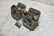 Harley Davidson Aluminum Cylinder Heads BEFORE Chrome-Like Metal Polishing - Aluminum Polishing
