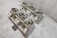 Edelborck Aluminum Cylinder Heads BEFORE Chrome-Like Metal Polishing - Aluminum Polishing