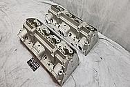 Edelborck Aluminum Cylinder Heads BEFORE Chrome-Like Metal Polishing - Aluminum Polishing