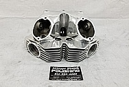 Motorcycle Aluminum Cylinder Heads BEFORE Chrome-Like Metal Polishing and Buffing Services / Restoration Services