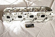 Chevy V8 Big Block Aluminum Cylinder Head BEFORE Chrome-Like Metal Polishing and Buffing Services