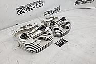 Harley Davidson Motorcycle Aluminum Cylinder Heads BEFORE Chrome-Like Polishing and Buffing - Aluminum Polishing - Cylinder Head Polishing