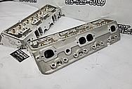 Edelbrock E210 Aluminum Cylinder Heads BEFORE Chrome-Like Metal Polishing - Aluminum Polishing