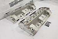 Edelbrock Aluminum Cylinder Heads BEFORE Chrome-Like Metal Polishing - Aluminum Polishing - Cylinder Head Polishing