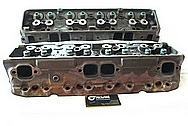 Cast Iron Cylinder Heads BEFORE Chrome-Like Metal Polishing and Buffing Services