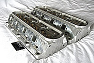 Ford Windsor 351 Aluminum Engine Cylinder Heads BEFORE Chrome-Like Metal Polishing and Buffing Services