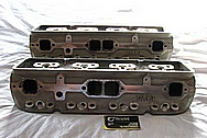 Aluminum V8 Cylinder Heads BEFORE Chrome-Like Metal Polishing and Buffing Services