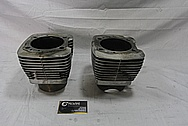 Harley Davidson Motorcycle S&S Engine Cylinders and Cylinder Heads BEFORE Chrome-Like Metal Polishing and Buffing Services / Resoration Services
