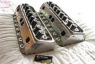 Aluminum V8 Engine Cylinder Heads BEFORE Chrome-Like Metal Polishing and Buffing Services / Resoration Services