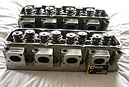 Brodix Aluminum Engine Cylinder Heads BEFORE Chrome-Like Metal Polishing and Buffing Services / Resoration Services