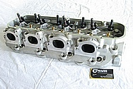 Dart 335 Aluminum V8 Cylinder Head BEFORE Chrome-Like Metal Polishing and Buffing Services