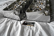 Edelbroat Performer Aluminum Cylinder Heads BEFORE Chrome-Like Metal Polishing and Buffing Services / Restoration Services