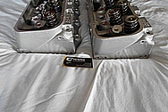 Brodix Aluminum V8 Racing Cylinder Heads BEFORE Chrome-Like Metal Polishing and Buffing Services / Restoration Services