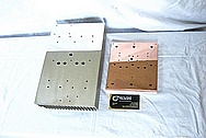 Aluminum & Copper Heat Sink Pieces AFTER Chrome-Like Metal Polishing and Buffing Services / Restoration Services