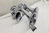 Fire Truck Steel Horn AFTER Chrome-Like Metal Polishing and Buffing Services - Horn Polishing - Steel Polishing